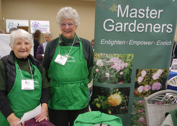Virginia and Marianne at the Seniors Fair 2018